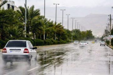 تردد در تمامی محورهای فارس برقرار هست/هیچ محوری مسدود نیست/بارش تگرگ در محور سپیدان به اقلید